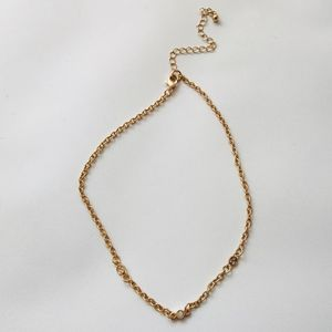NWOT Gold and Clear Crystals Choker Necklace